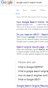 page-one search results